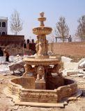 Fontana statuaria del leone di pietra (FNT081)