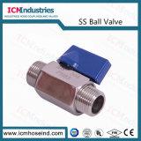 2PC Válvula de Esfera de Aço Inoxidável Extremidades Roscadas