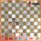 Revestimento creativo ACP do espelho do ouro do mosaico 4mm 0.21mm do projeto de Ideabond