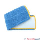 Blauer Microfiber Fußboden-flach nasser Mopp