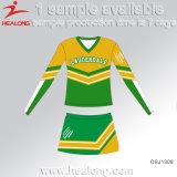 Robes fraîches de Cheerleading d'école de sublimation de vêtements de modèle de Healong à vendre