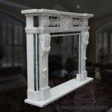 A decoração de lareira em mármore, lareira e rodeia Mantels
