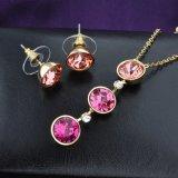 Insieme di cristallo dei monili degli orecchini della collana dell'Austria dei monili Gold-Plated