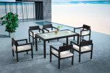 Jardim exterior de alumínio mesa de jantar e cadeiras com qualidade superior por 6 pessoa (YT547)