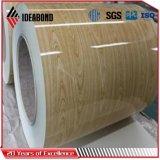 Bobina cubierta color de madera del modelo para la decoración interior