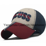 deporte apropiado/gorra de béisbol del algodón de la manera del bordado 3D