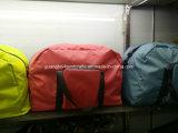 Commerce de gros 100 % polyester jaune Duffel Sac de voyage pliable
