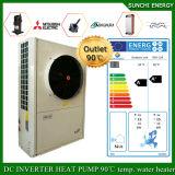 Tournant à -20C Hiver Chauffage au sol de 150m² Chambre R407c 12kw/19kw/35kw chauffe-eau Heatpump Auto-Defrost Evi