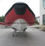 中国製0.9mm-1.2mm PVCが付いているガラス繊維の外皮のボートRib640