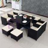 Mobília da HOME do Rattan do PE que janta o jogo