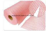 Wipes non tessuti di pulitura a gettare di pulizia di Spunlace del panno