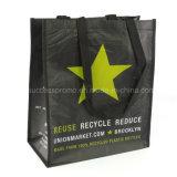 2016 recyclé imprimé personnalisé RPET feuilleté un sac de shopping