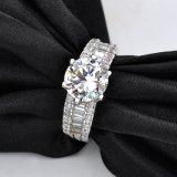 격조 높은 문체 입방 지르코니아 다이아몬드 교전 결혼 반지
