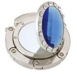 Gancio pieghevole della borsa del metallo su ordinazione con lo specchio (MBH-04)