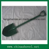 Schaufel-rundes spitzes geschweißtes Stahlgriff-Schaufel-Handwerkzeug