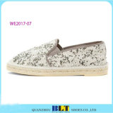 Hot Sale Shinny chaussures occasionnel espadrilles