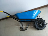 파란 색깔 좋은 품질 외바퀴 손수레