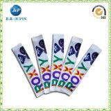 Van de Achtergrond douane van de fabriek het Screen-Printing Sticker Geweven Etiket (JP-CL125)