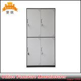 Jas-027 4-Doors Metalltuch-Garderobe der Schlafzimmer-Entwurfs-Möbel für Schlafsaal