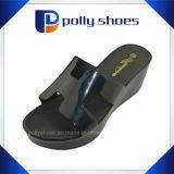 Pistone di plastica nero dell'alto tallone del PVC della copia di marca delle donne