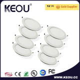 Kreis-LED-Leuchte-vertieftes Panel LED