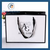 Embalaje preciosa tarjeta blanca bolsa de regalo de papel (DM-GPBB-071)