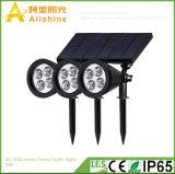 2W 100lm LED Solarrasen-Licht für Garten oder Yard