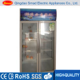 preço de vidro comercial do Showcase do indicador do supermercado 390L ereto