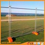 安全によって電流を通される一時塀のパネル