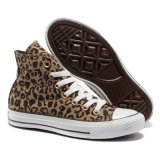 Низкое Cut Comfortable Brown Leopard Canvas Shoes с Cheap Prices