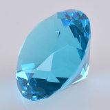Diamant van het Glas van het Kristal van het meer dankt de Blauwe voor Presse-papier de Gift van het Huwelijk van het Weggevertje