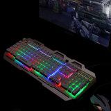 Клавиатура с подсветкой конструкции из алюминиевого сплава игры (КБ-906-эль-C)