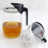 Bac en verre de thé de Brosilicate de thé de cruche en verre de bouilloire avec Infuser