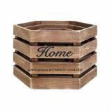 Accueil Consommables stockage Organisateur 3 morceaux de la Caisse de boîtes de blanc de la cuisine de jardin en bois