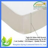 백색 테리 대형 풍부한 자력 방수 매트리스 프로텍터