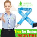 Kundenspezifisches Woven Logo Polyester/Nylon Satin Lanyard mit Card Holder