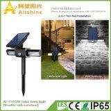 Doppelt-Seite 2W Umdrehungs-Solarrasen-Licht mit heller Steuerung und PIR Induktion