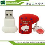 Plastikweihnachtsgeschenke USB-Blitz-Laufwerk USB-Feder