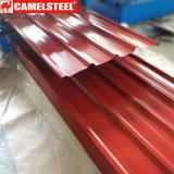 Tôle de toit recouvert de couleur pour les matériaux de construction