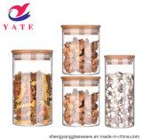 Banheira de vender o armazenamento de vidro vidro borossilicato de JAR/Alto com tampa de madeira