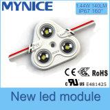 Módulo da injeção do diodo emissor de luz de UL/Ce/RoHS 1.44W com brilho elevado da lente 5 anos de garantia impermeável