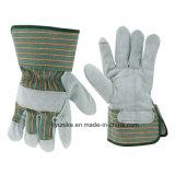 Усиленная Palm коровы Split кожаные перчатки безопасности