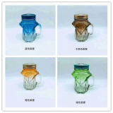 De hete Verkopende Fles van het Glas van de Kruik van de Metselaar met Handvat