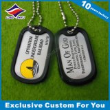 Atacado Custom Metal Dog Tag com corrente de bola
