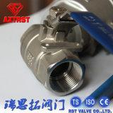 Robinet à tournant sphérique d'amorçage d'acier inoxydable d'ISO/Ce 2PC