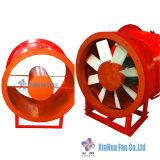 Os fãs Vane-Axial ou hélice para mineração/projecto do túnel