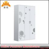 Fas-092 Armario Armario de dormitorio Muebles de metal de acero de diseños de vestuario