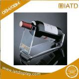 Support cosmétique de vin de chaussure de lunetterie d'étalage acrylique transparent