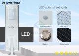 IP65 tout-en-un rue solaires Lampes avec puces de Bridgelux Batterie au lithium