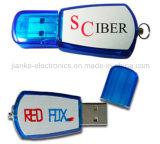 Alta calidad USB Flash Drive azul con el logotipo personalizado impreso (101)